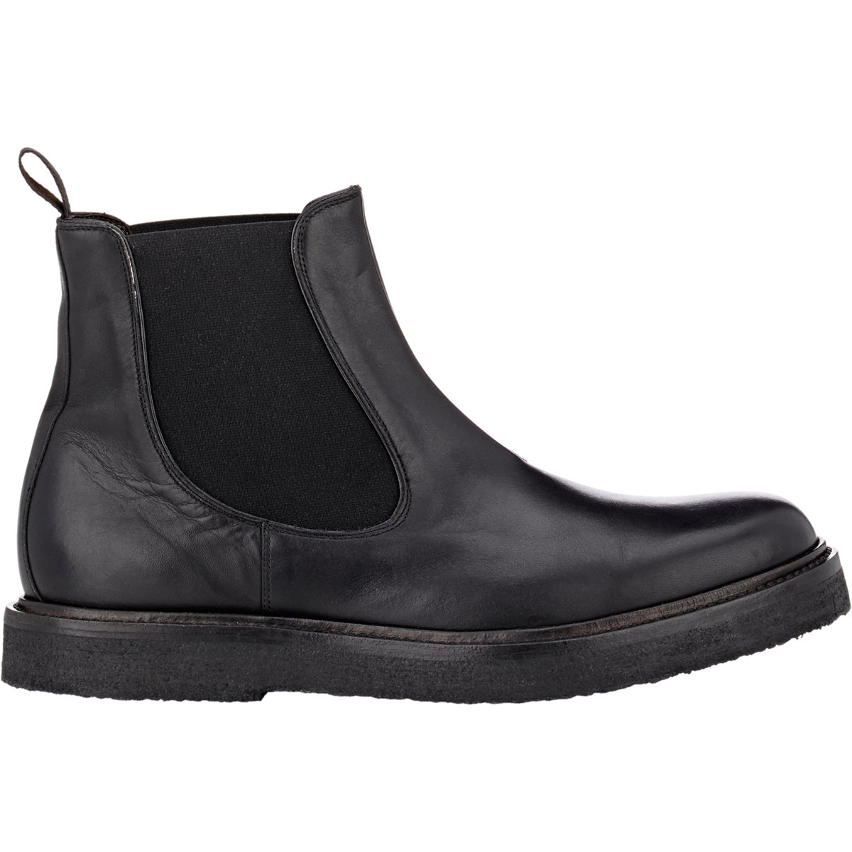 BARNEYS NEW YORK Distressed Leather Chelsea Boots