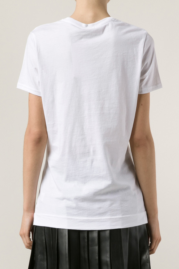 Adam lippes short sleeve crew neck tee in white lyst for Adam lippes t shirt