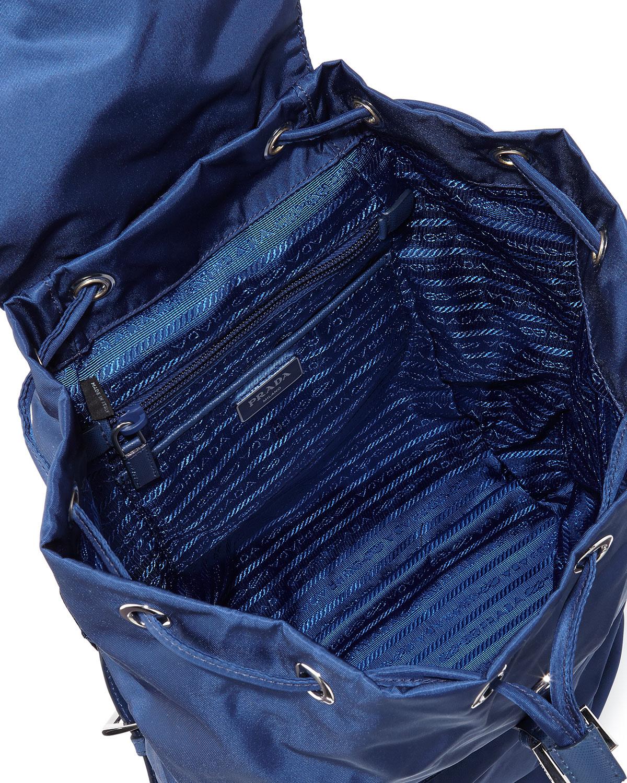 9f800e9532876b ... coupon code for lyst prada vela medium backpack in blue 71b22 26bb0