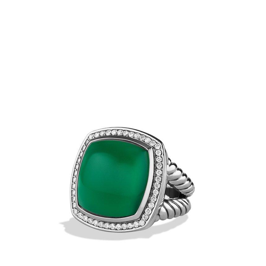 david yurman albion ring with green onyx and diamonds in