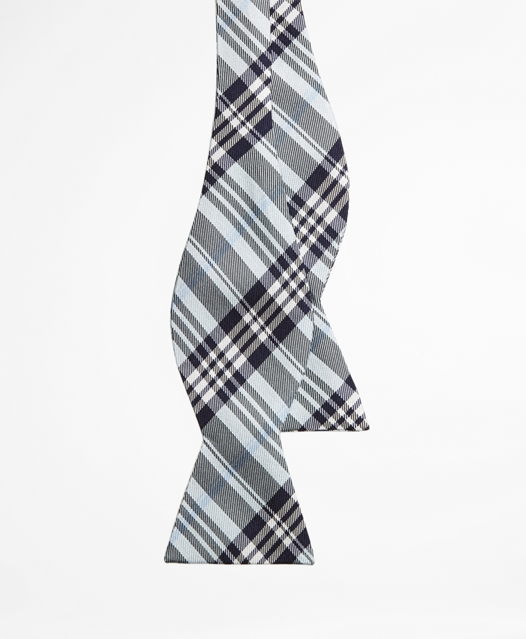 Brooks brothers Plaid Bow Tie in Blue for Men | Lyst