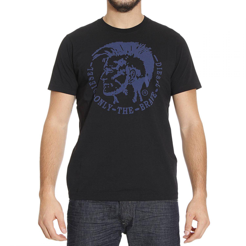 diesel t shirt in black for men lyst. Black Bedroom Furniture Sets. Home Design Ideas