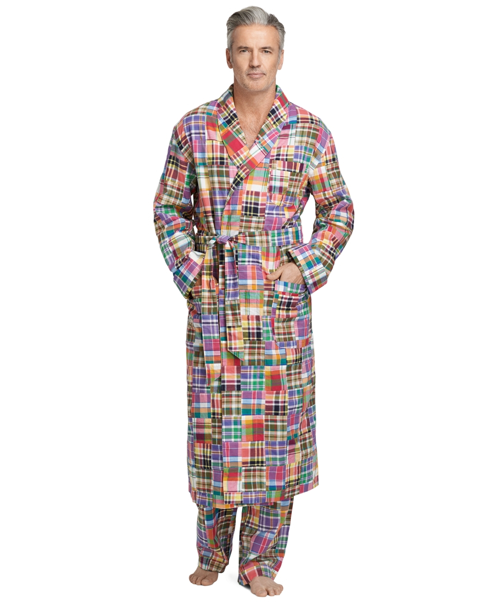 Lyst - Brooks Brothers Patchwork Madras Robe in Orange for Men 409317ff2