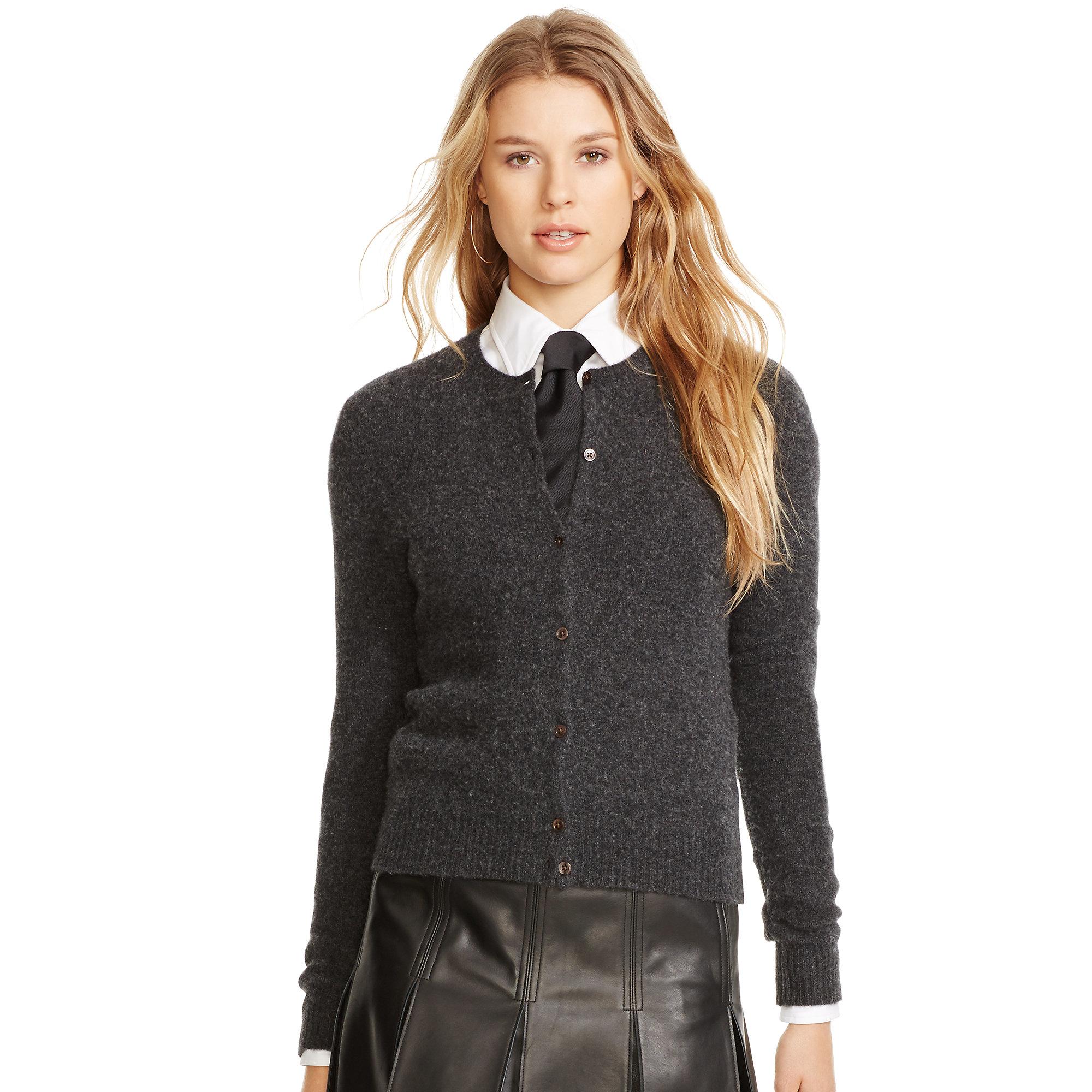 636c0c1f031b8 Lyst - Polo Ralph Lauren Wool-cashmere Cardigan in Gray