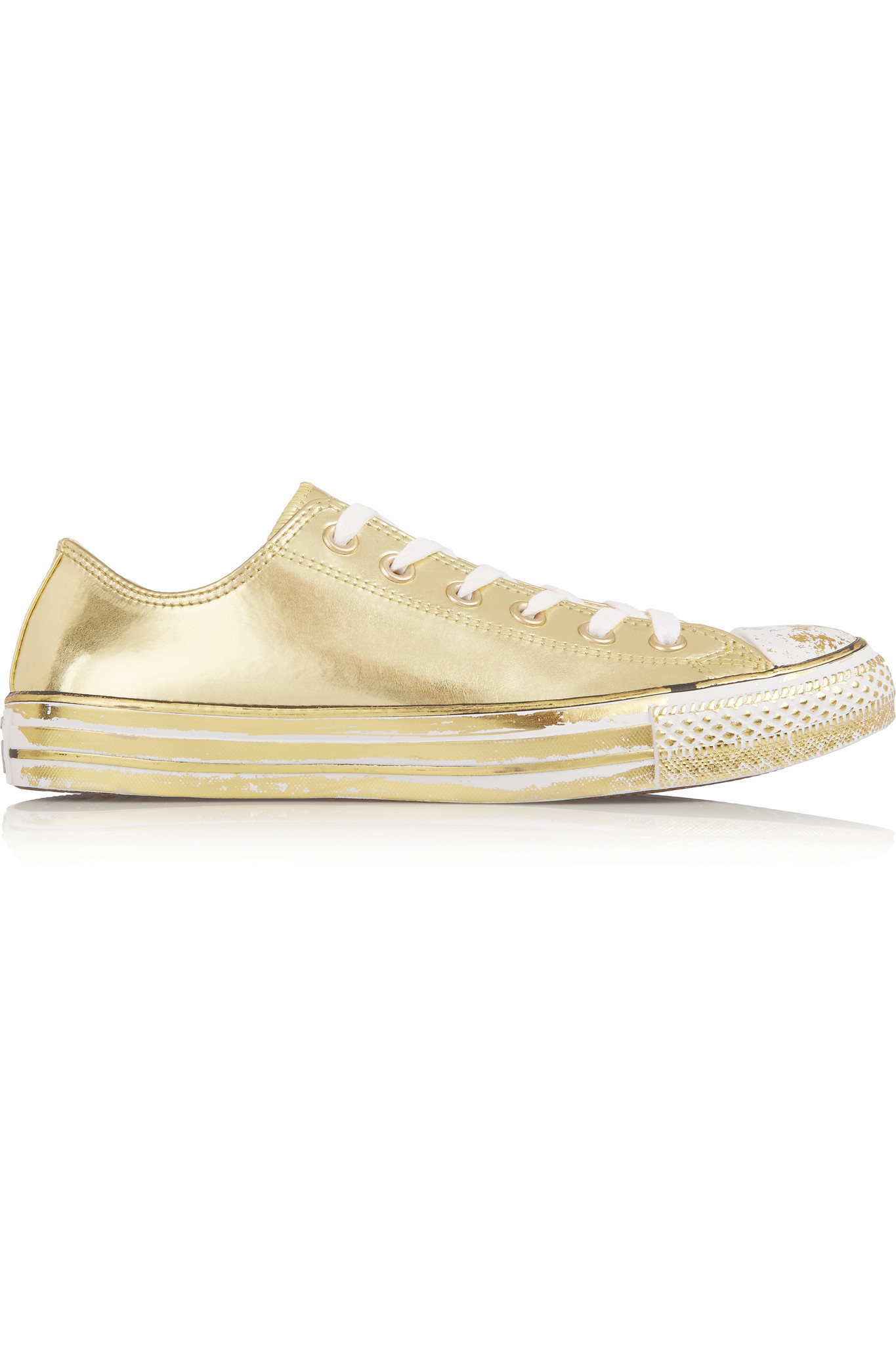 e43e337dbb9c Converse Chuck Taylor All Star Chrome Metallic Leather Sneakers in ...