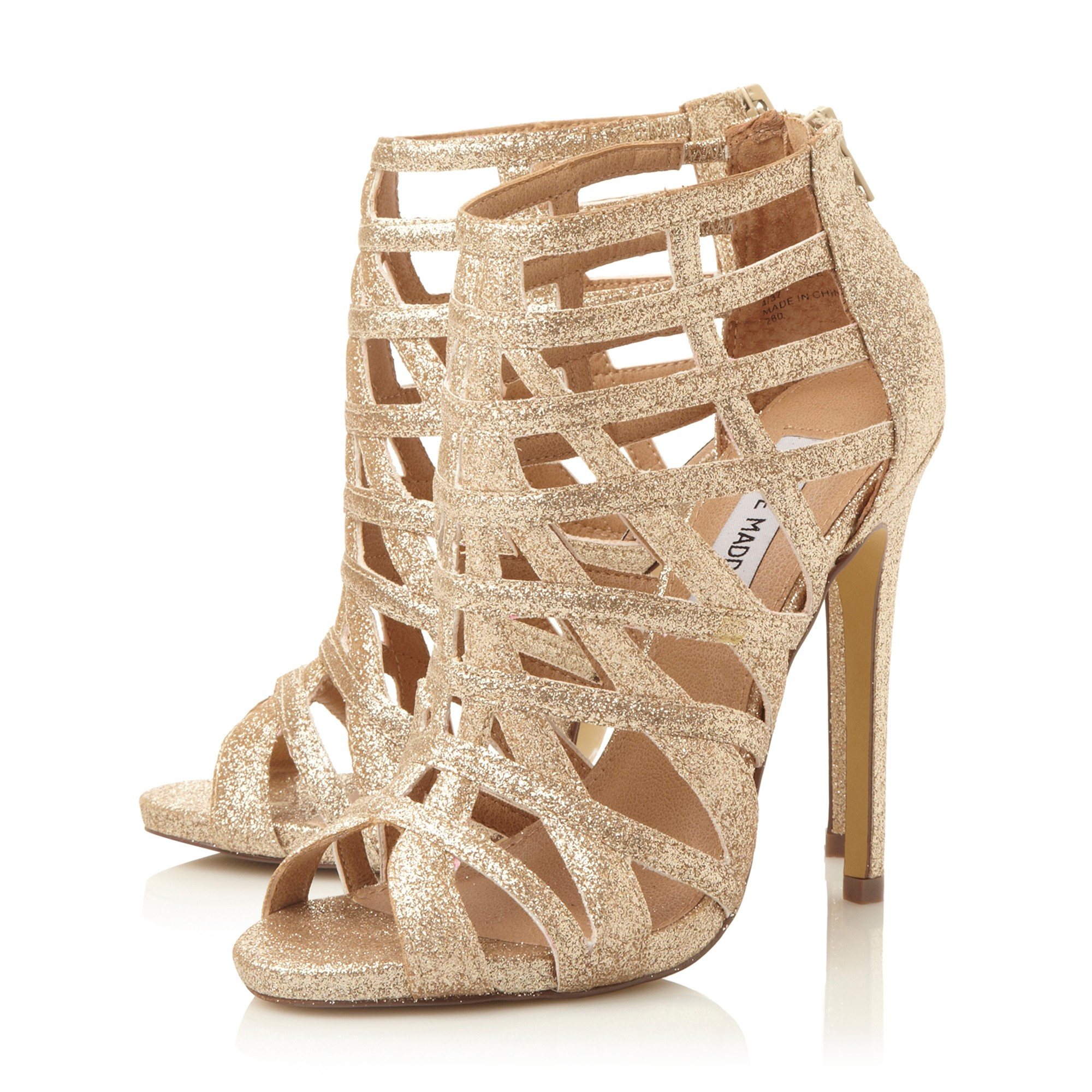 f5f6736d94a Steve Madden Marquee Caged High Heel Sandal in Metallic - Lyst