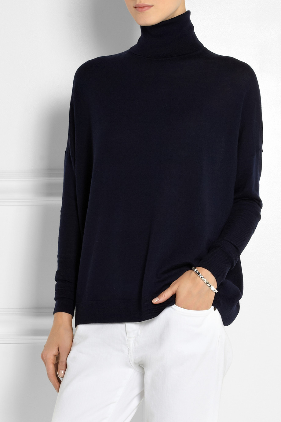 Acne studios Delight Merino Wool Turtleneck Sweater in Blue | Lyst