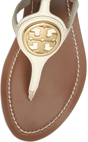 Tory Burch Leticia Flat Thong Sandal In Beige Ivory Lyst