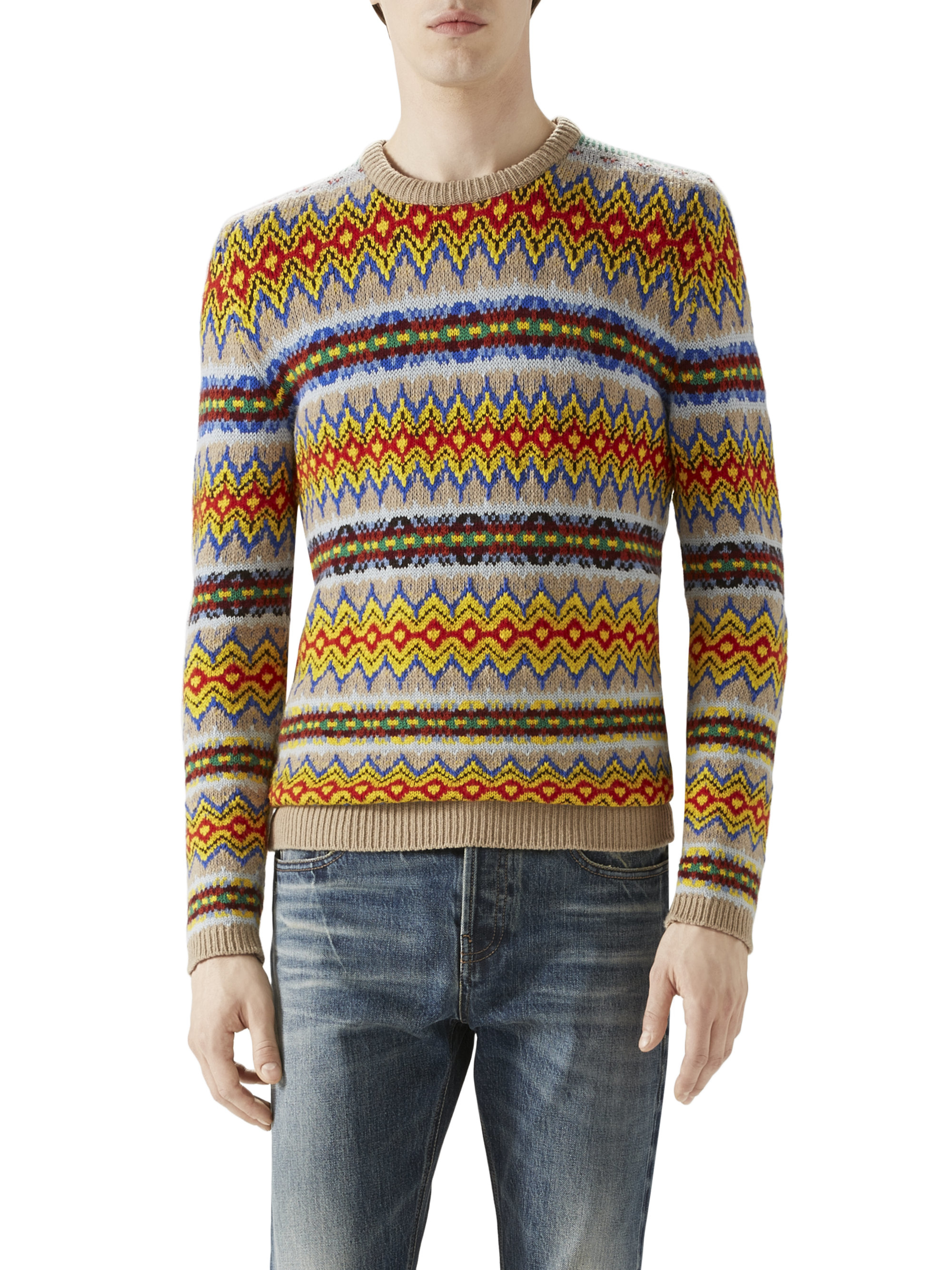 Gucci Fair Isle Sweater for Men | Lyst