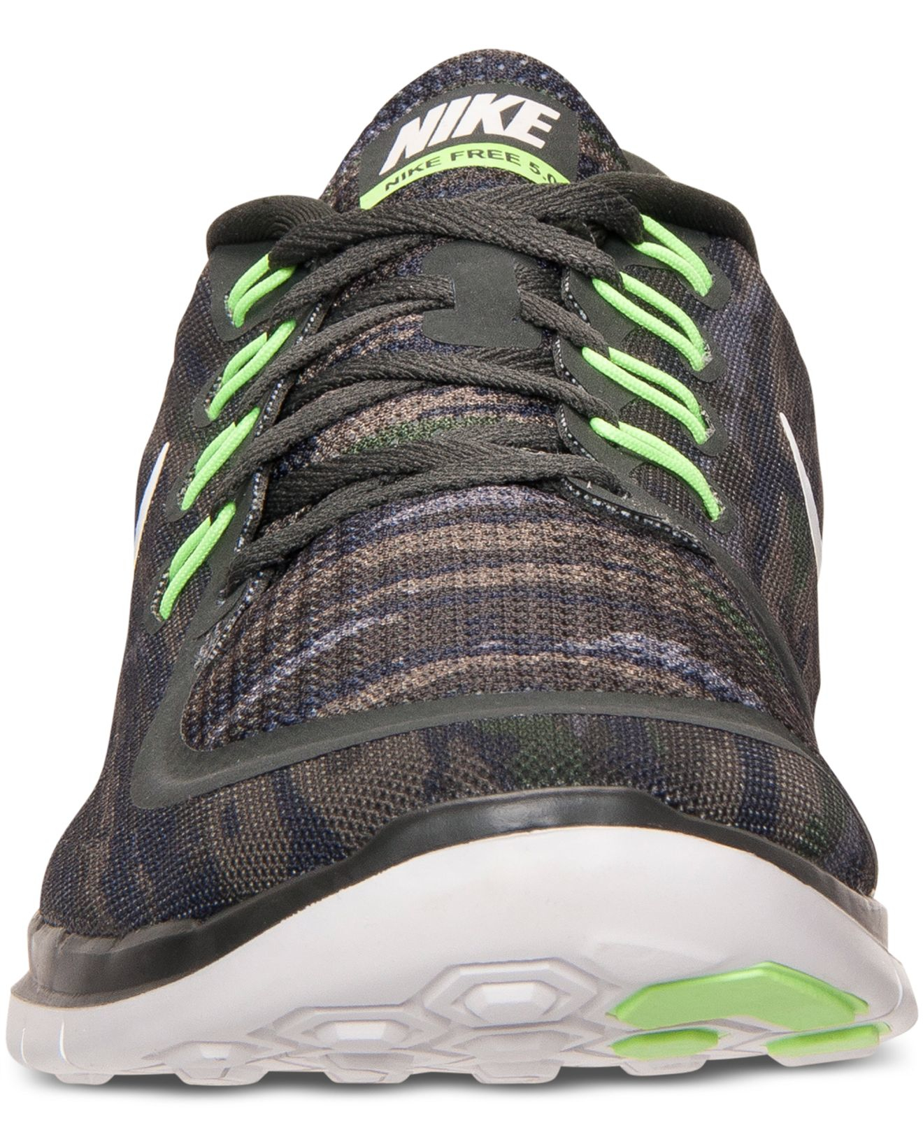 outlet store 65329 170ff ... aliexpress lyst nike mens free 5.0 print running sneakers from finish  line in green for men