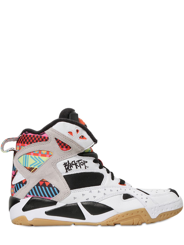 4eddcdf3bec Lyst - Reebok Leather Blacktop Battleground Sneakers for Men