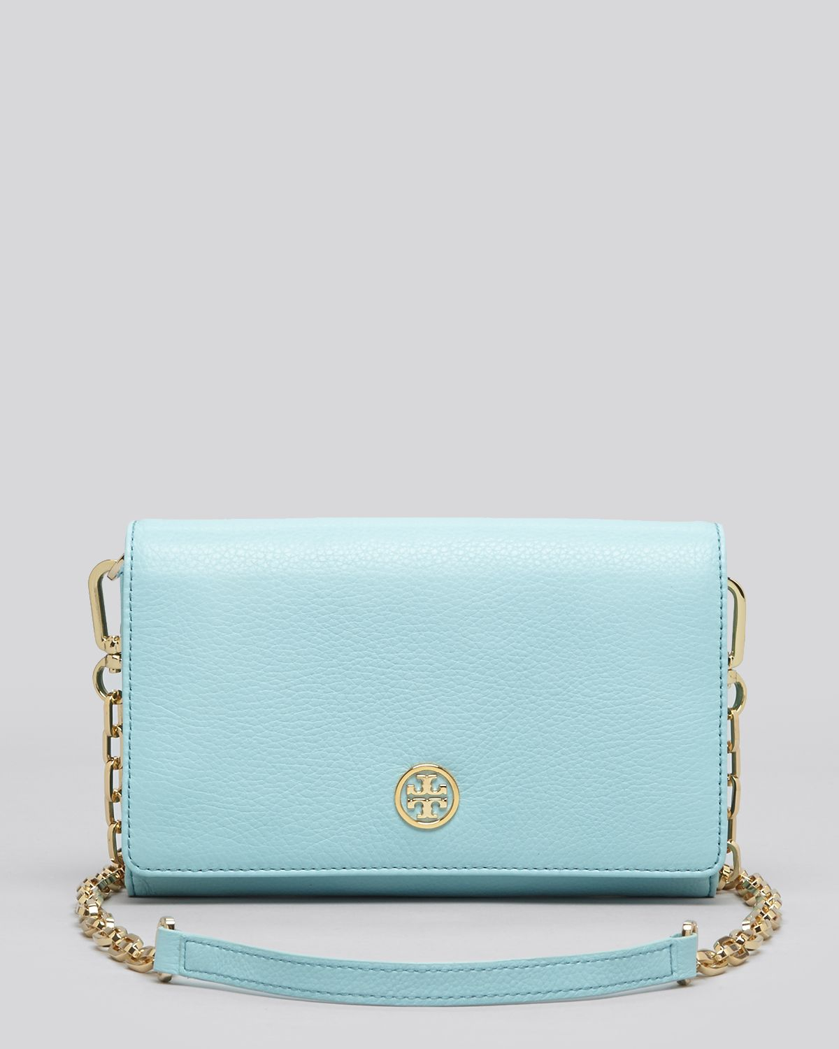 c653bf44c927 Lyst - Tory Burch Mini Bag Robinson Chain Wallet in Blue