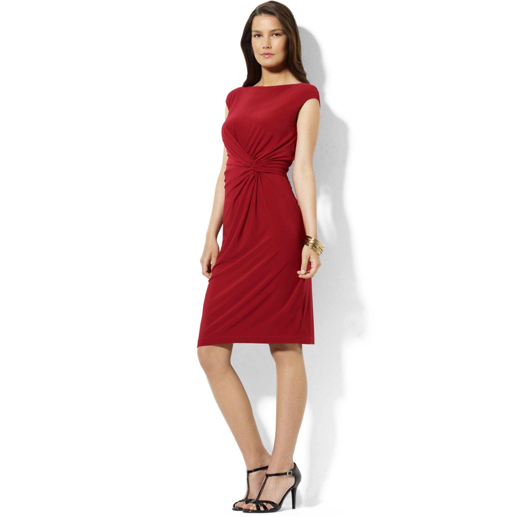 e14b301f046 ralph lauren cap-sleeved jersey dress