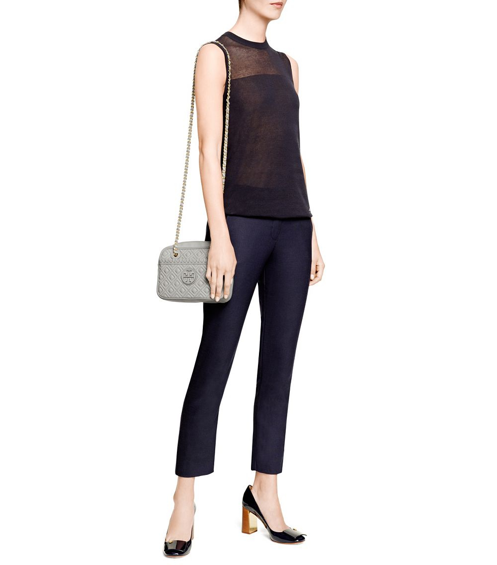 Lyst - Tory burch Marion Quilted Cross-Body in Gray : marion quilted crossbody - Adamdwight.com