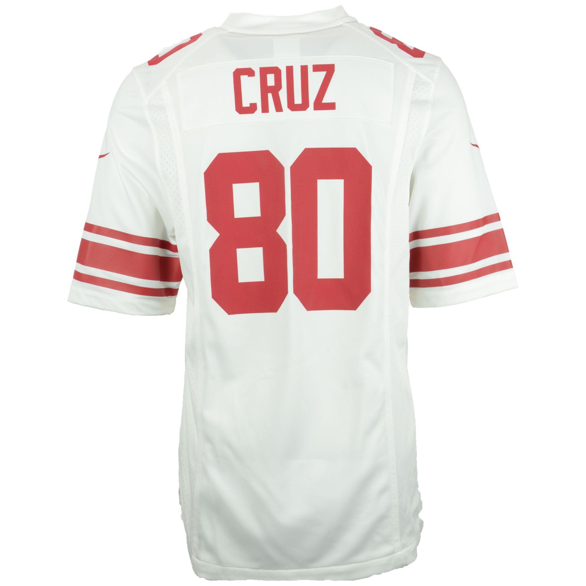 NFL Jersey's Mens New York Giants Victor Cruz Nike White Game Jersey