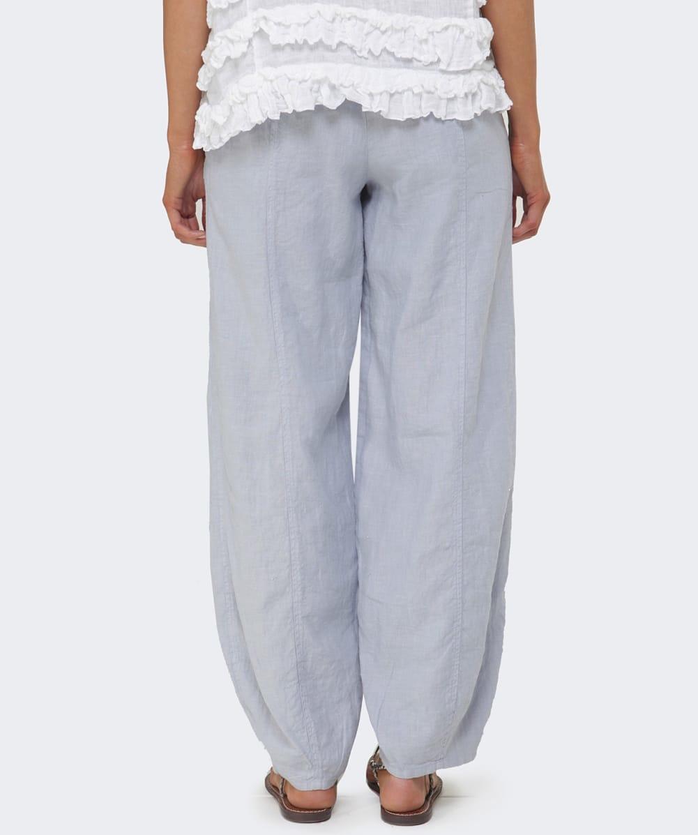 Cool Linen Pants  Women Linen Trousers In Bluish By NotPERFECTLINEN