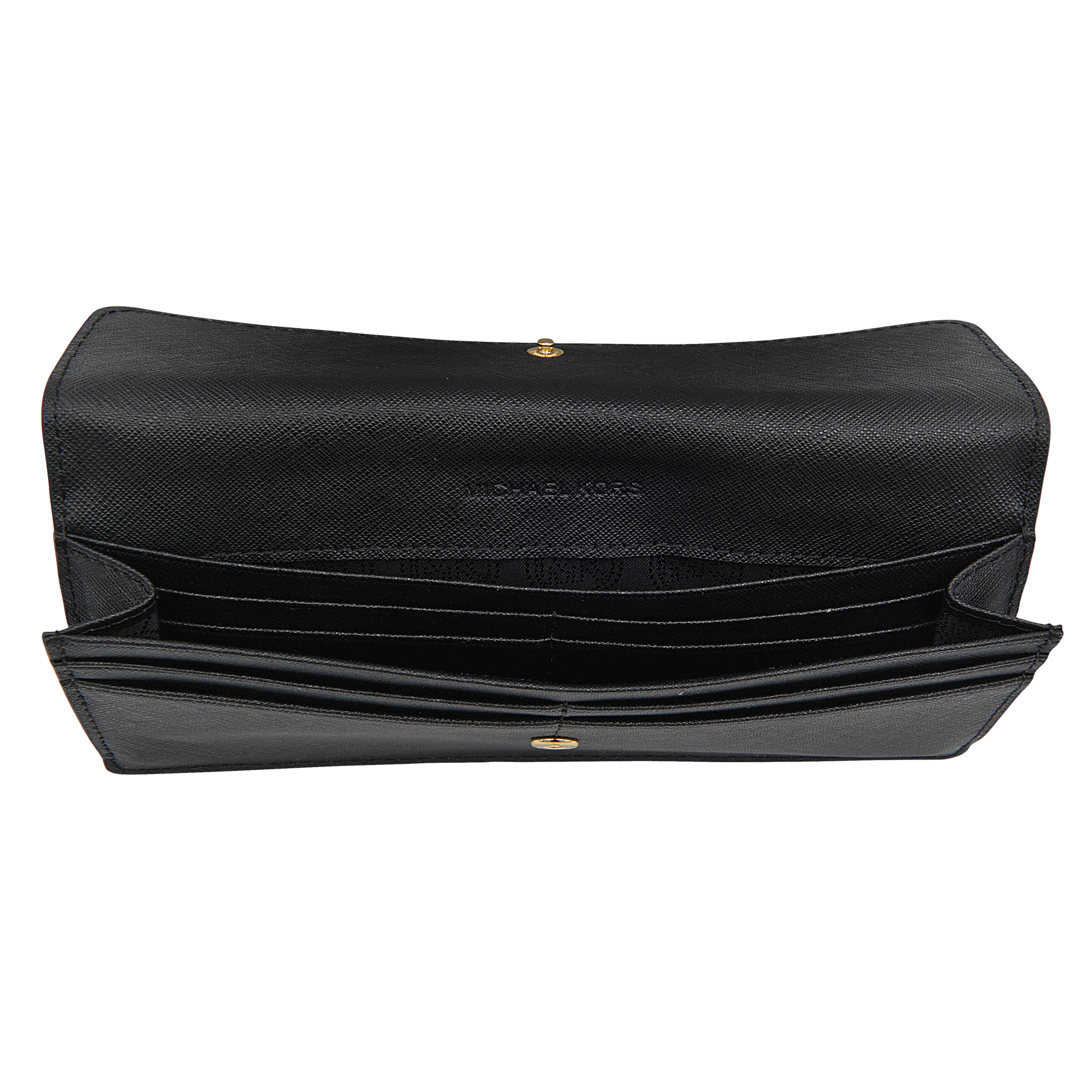 Michael kors Jet Set Travel Flat Wallet 18k in Black