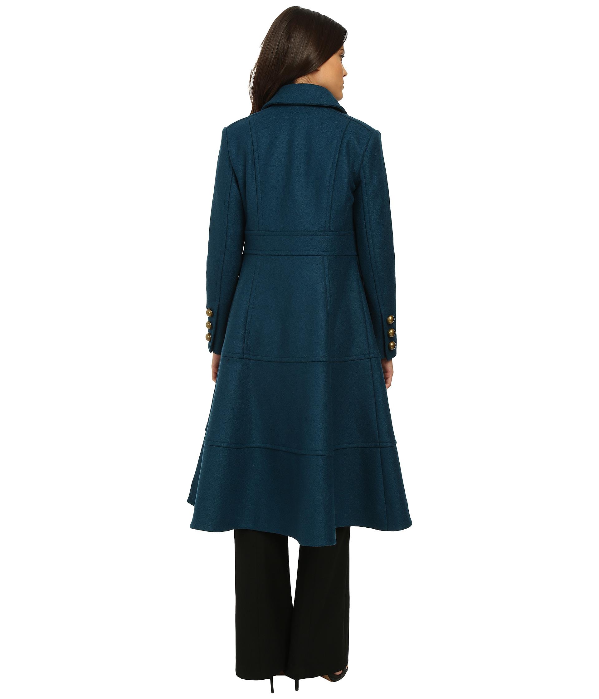 nanette lepore femme fatale trench coat in blue lyst. Black Bedroom Furniture Sets. Home Design Ideas