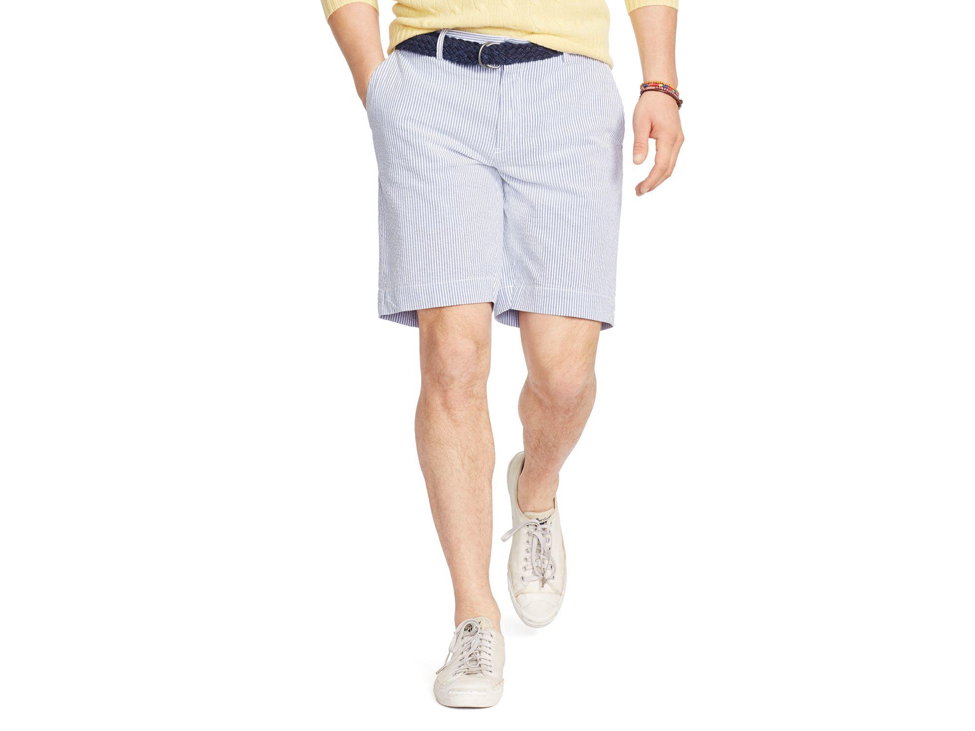 Polo ralph lauren Striped Seersucker Shorts - Classic Fit in White ...