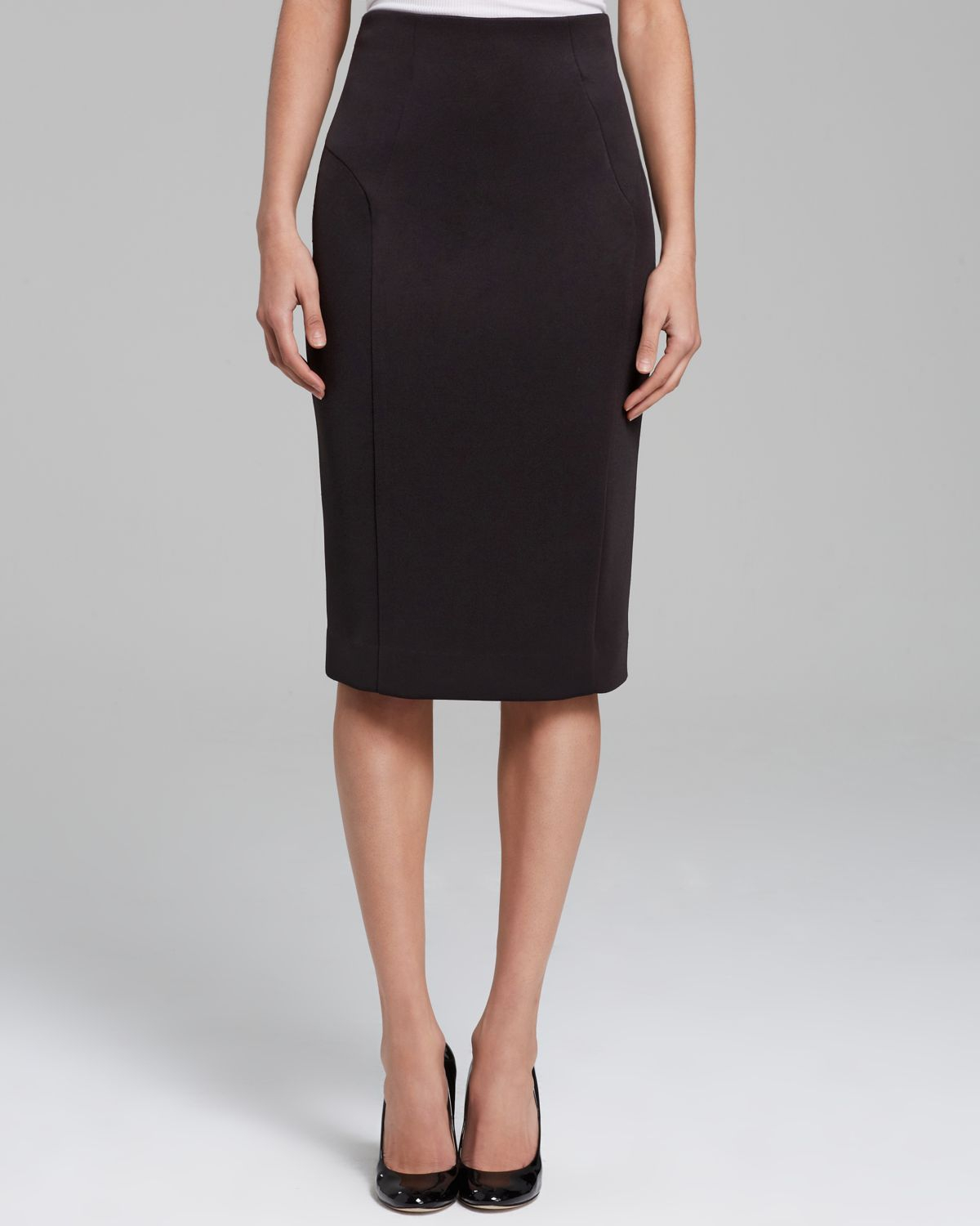 milly pencil skirt high waist in black lyst