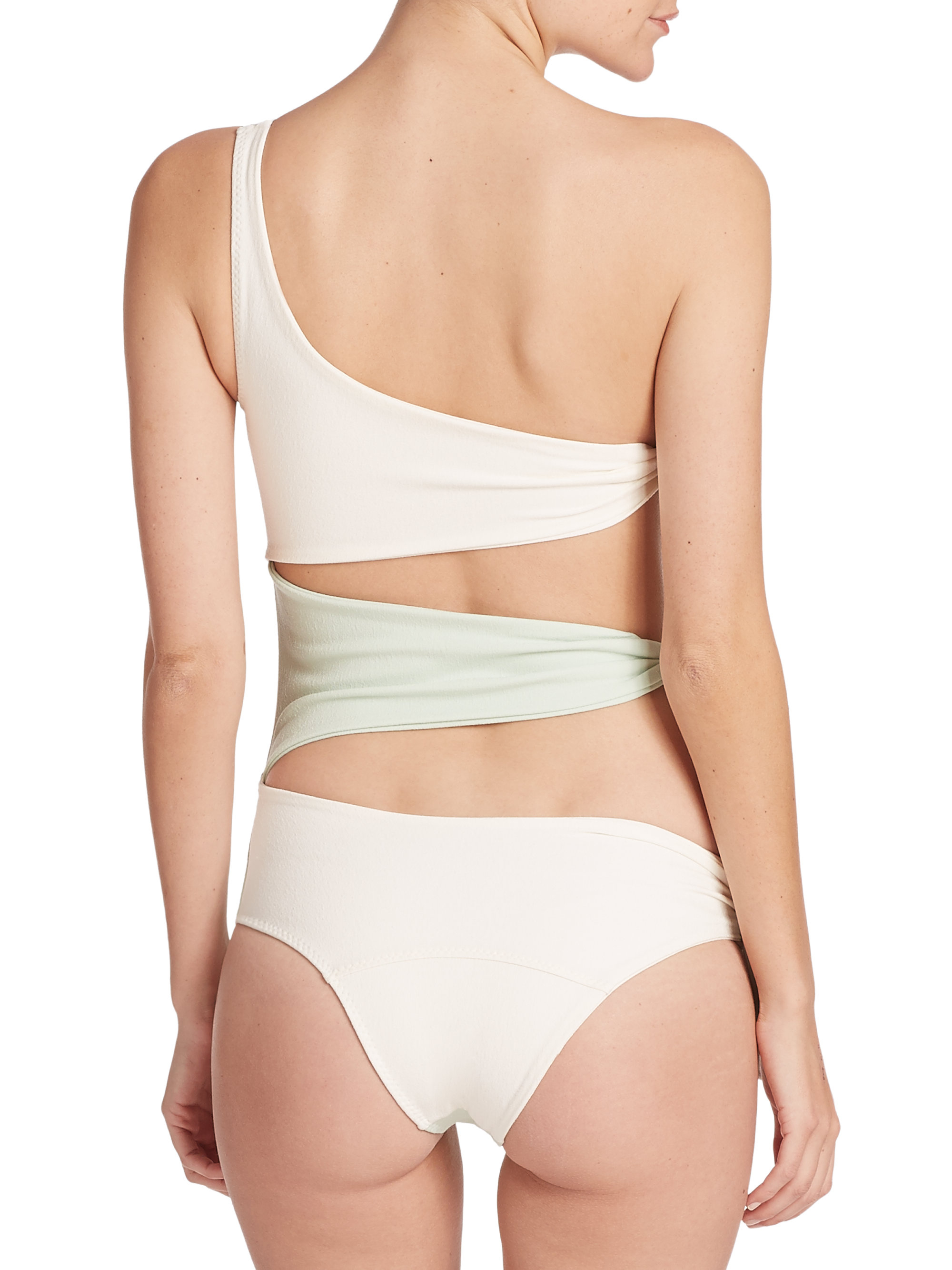 d560e2d83ab Lisa Marie Fernandez One-piece Bianca Maillot Swimsuit in Green - Lyst