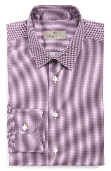 Lyst Canali Regular Fit Dress Shirt In Purple For Men