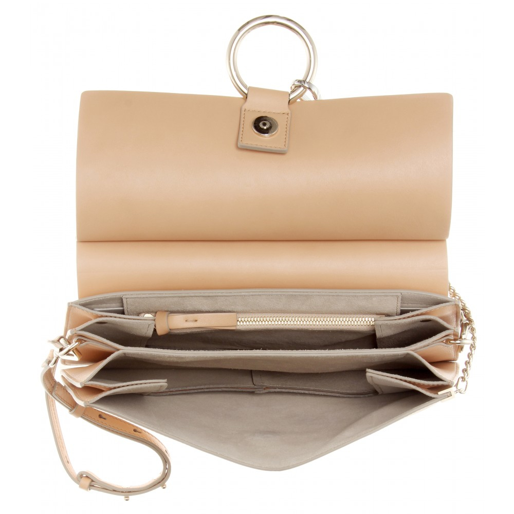 Chlo¨¦ Faye Leather \u0026amp; Suede Shoulder Bag in Pink | Lyst