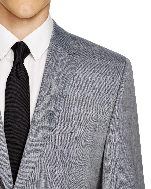 77c5ca57 BOSS Hugo Sharkskin Aeron/hamen Extra Slim Fit Suit in Blue for Men ...