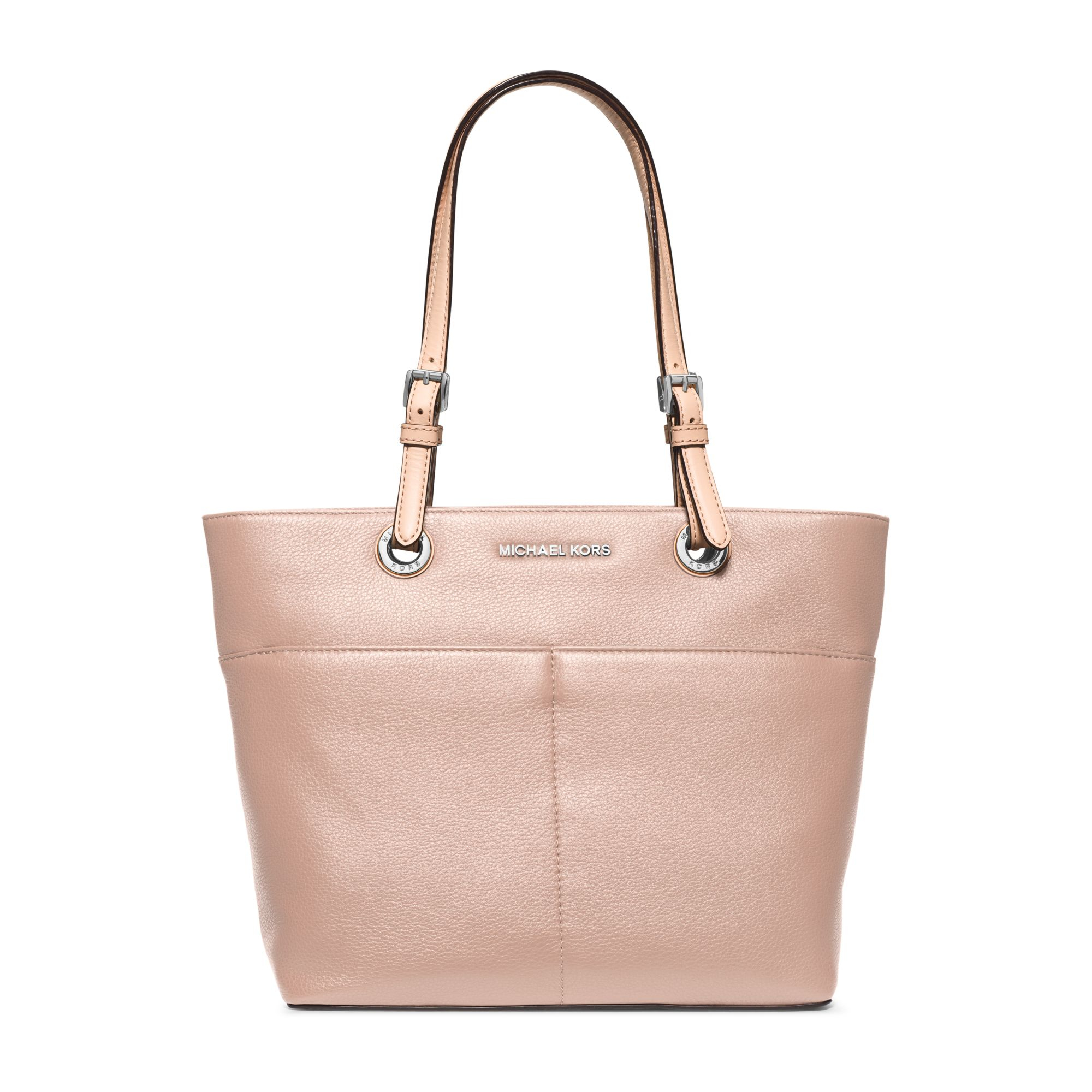 788e9bf263a5 ... authentic lyst michael kors bedford top zip leather tote in pink aaf7b  5f42e