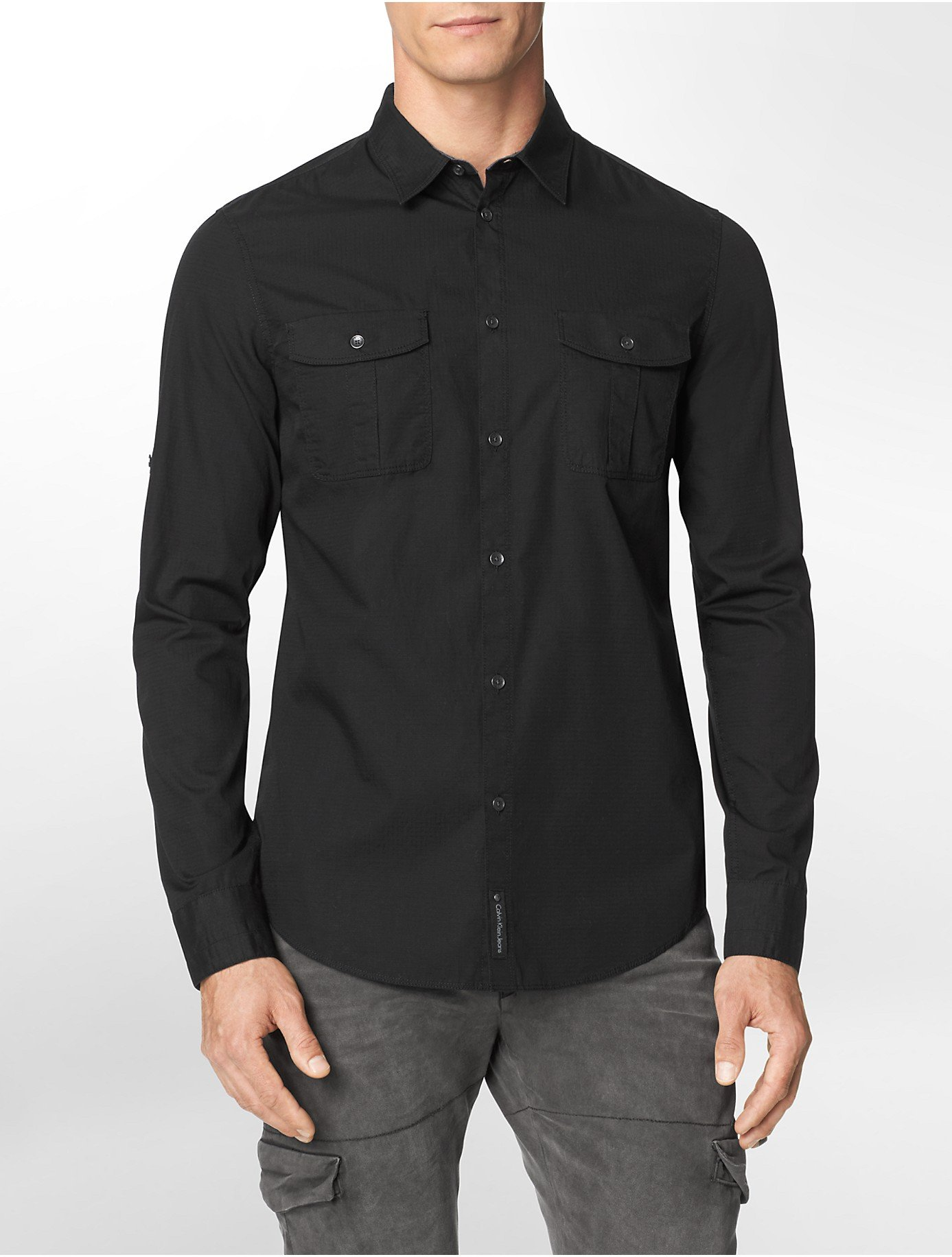 Mens Long Sleeve Seersucker Shirts