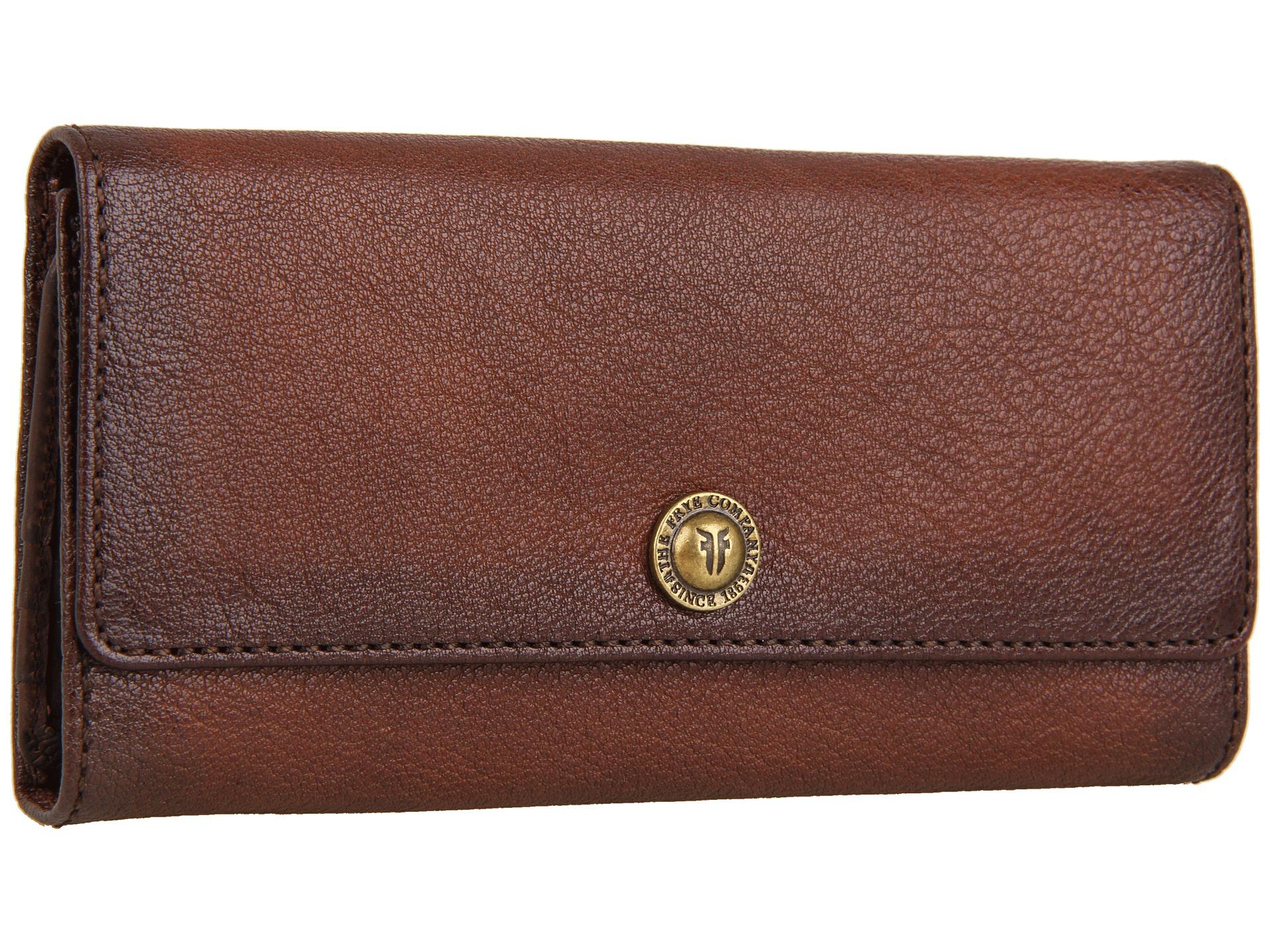 frye melissa snap wallet in brown lyst