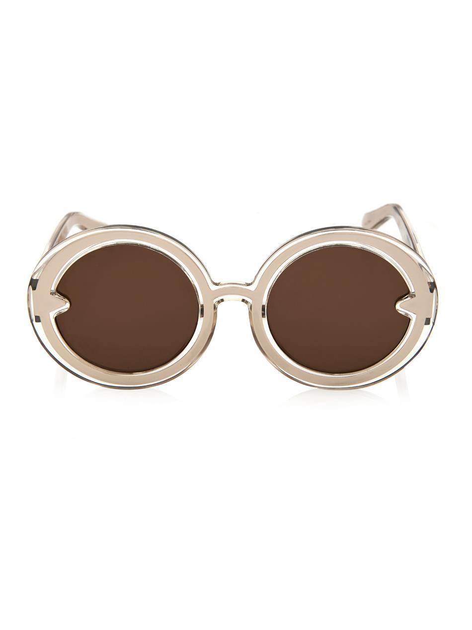 a7497545d1f Karen Walker Orbit Round-Framed Sunglasses in Metallic - Lyst