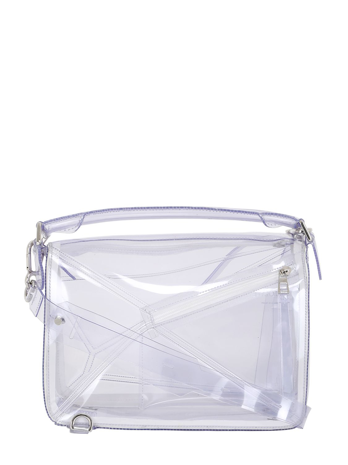 Lyst Loewe Puzzle Transparent Pvc Top Handle Bag