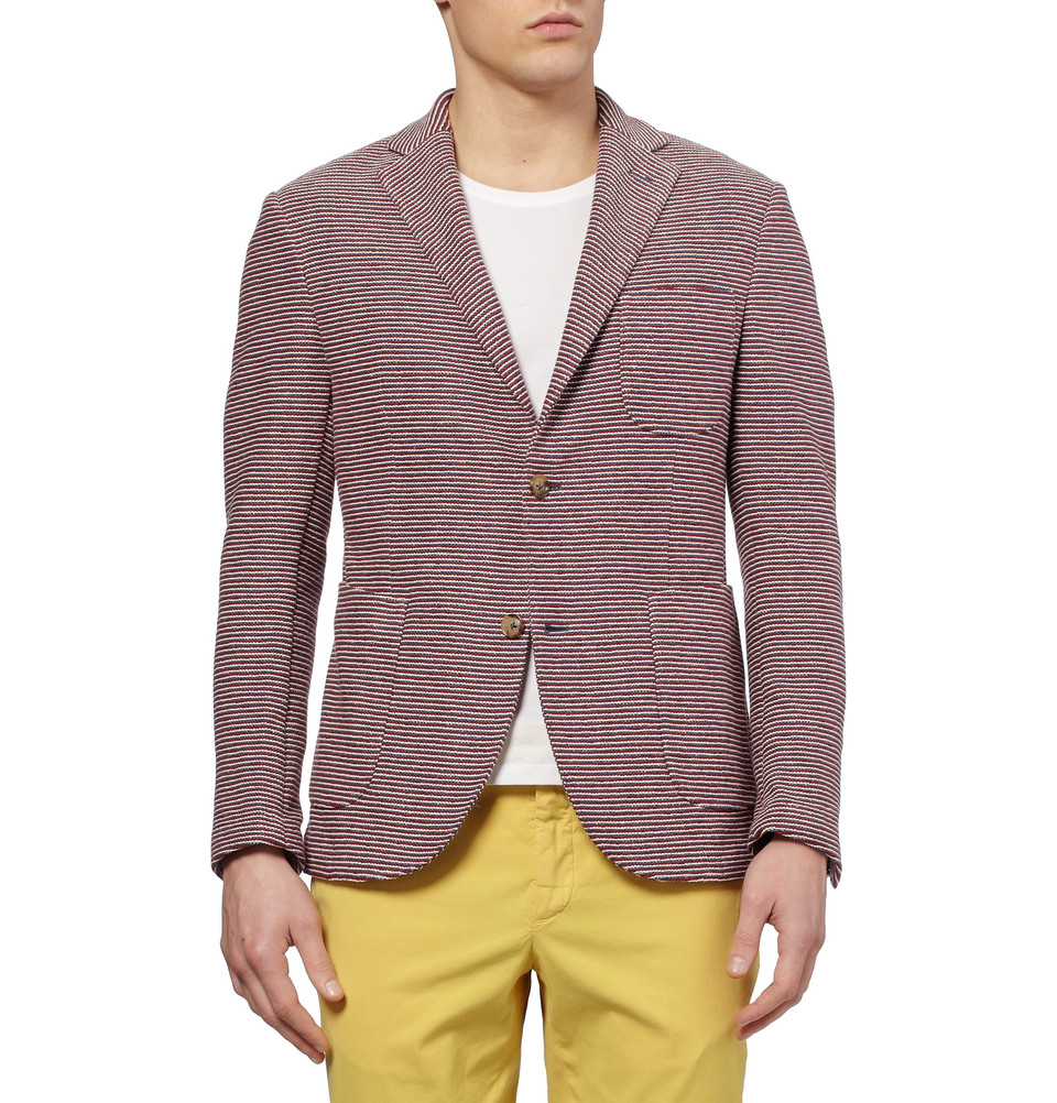 Slowear Montedoro Giacco Slim Fit Unstructured Knitted ...