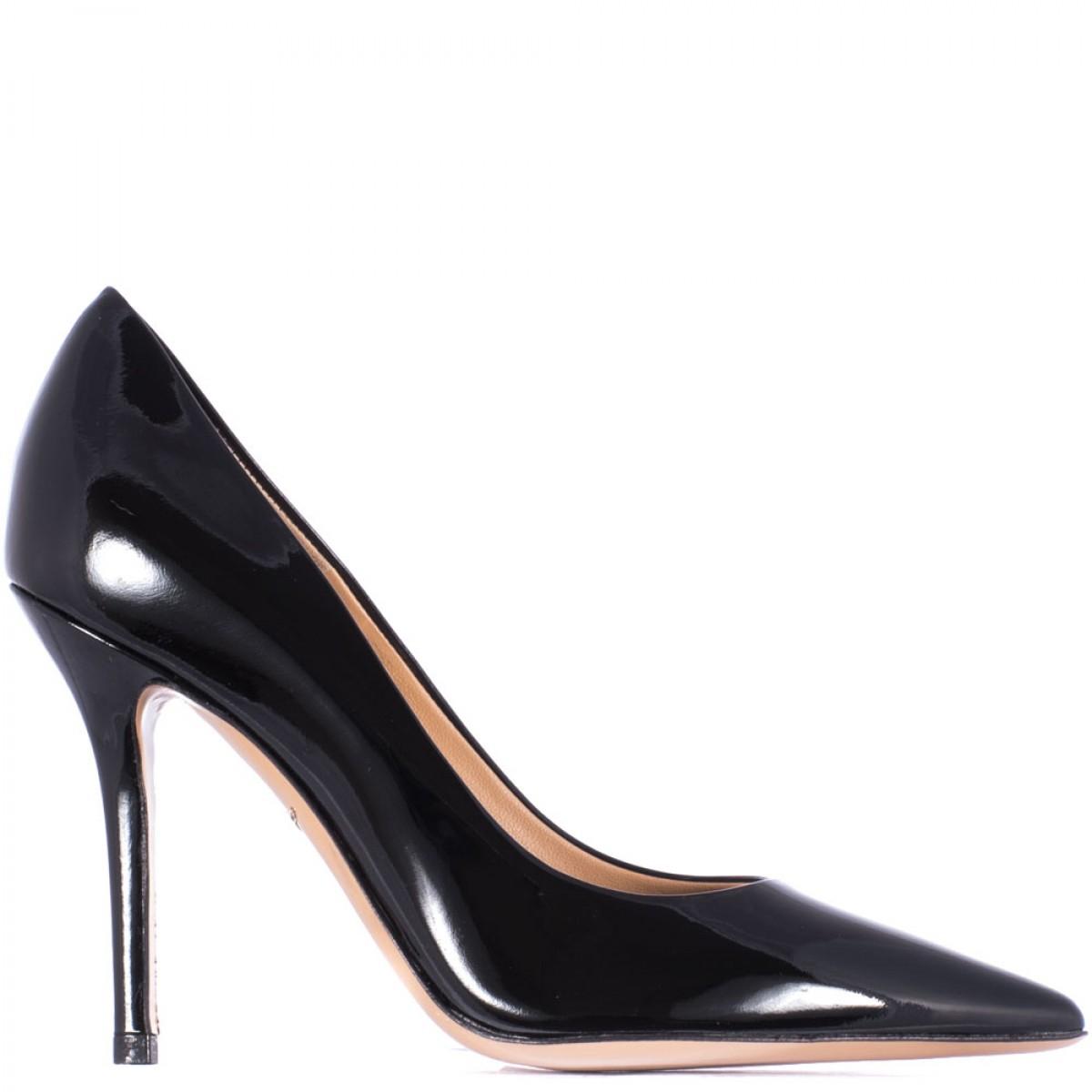 ferragamo black patent leather 10cm quot susi quot shoe in black