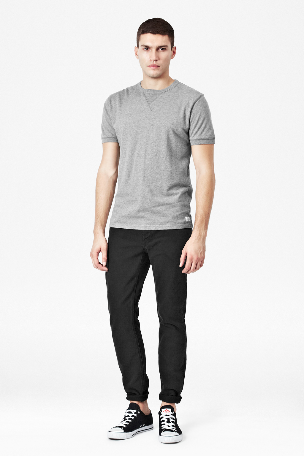 French Connection Lightweight Sweater Tshirt In Gray For