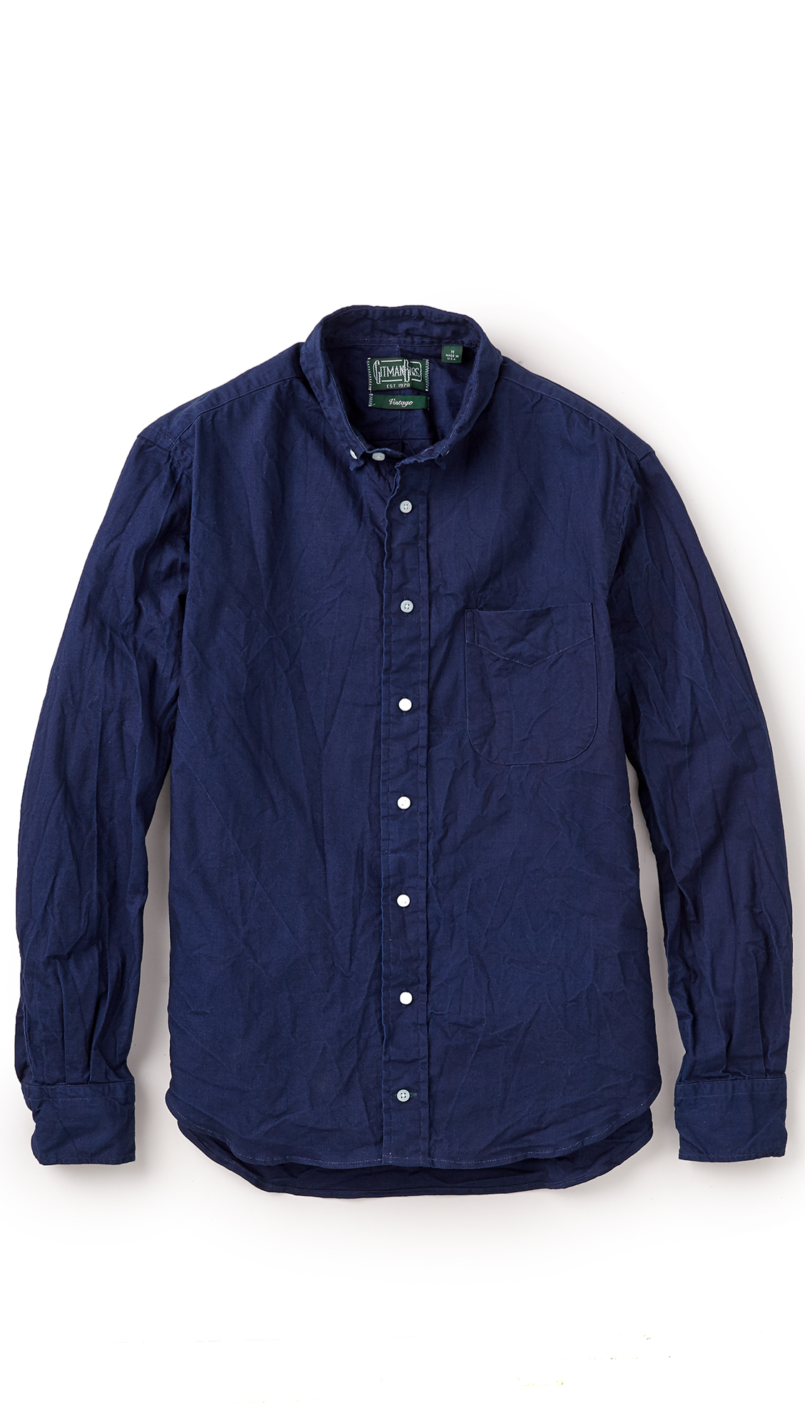 Gitman Brothers Vintage Japanese Indigo Shirt In Blue For