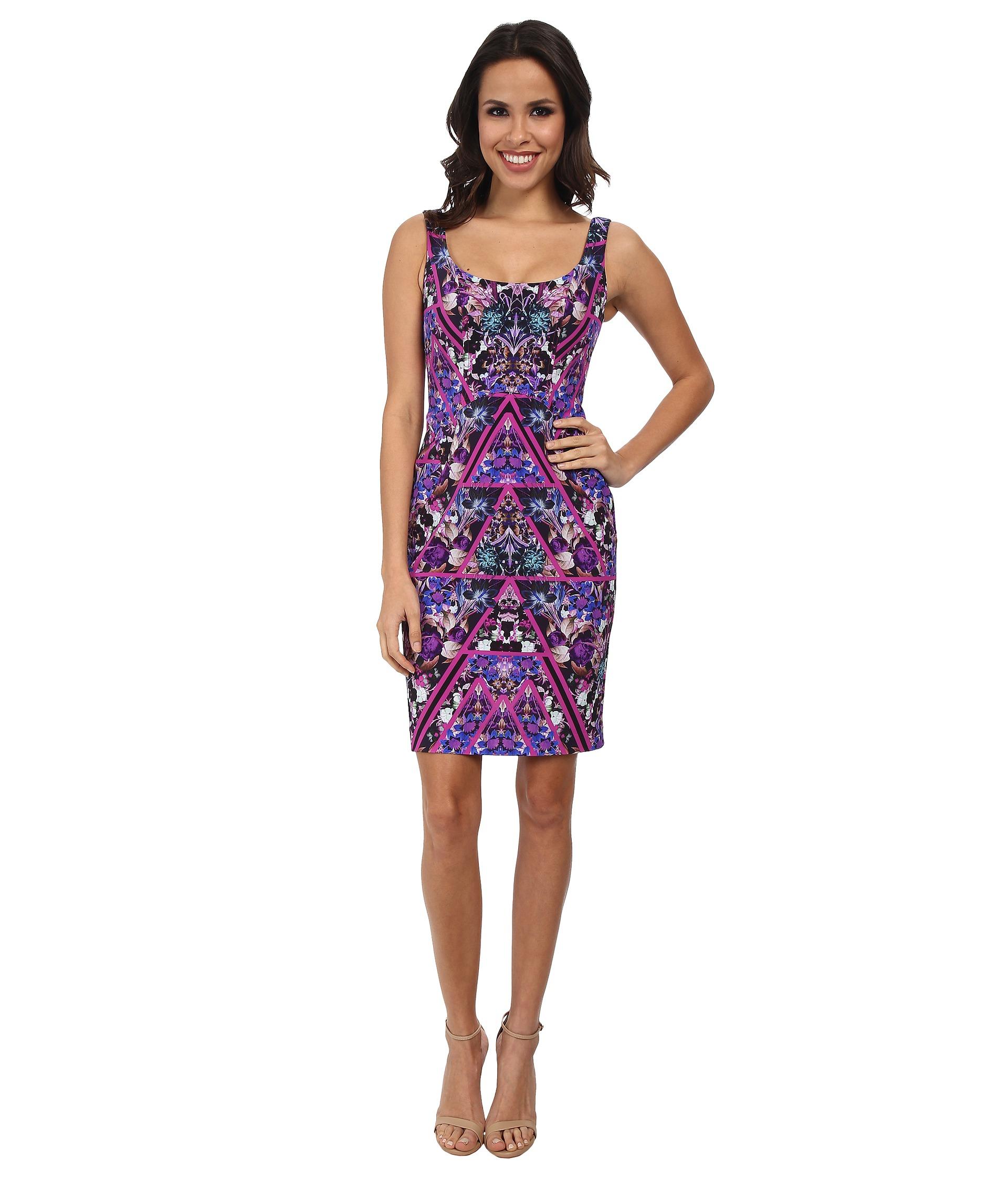 Lyst - Nicole Miller Berry Bliss Powernet Tank Dress e00284175