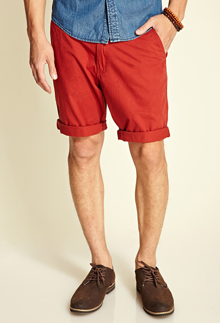 Forever 21 Classic Chino Shorts in Red for Men | Lyst