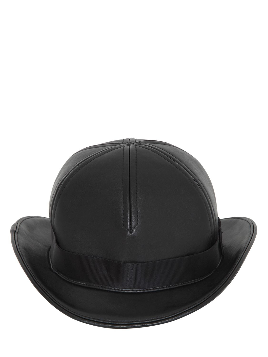 36c925e87f KTZ Faux Leather Bowler Hat in Black for Men - Lyst