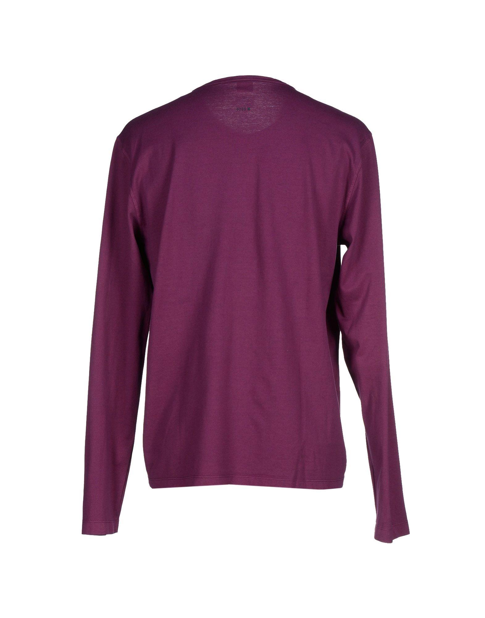 boss orange t shirt in purple for men lyst. Black Bedroom Furniture Sets. Home Design Ideas