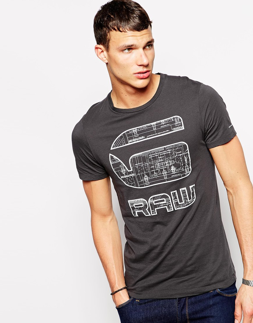 0974f5fade8 Lyst G Star Raw Tshirt Mavinious Slim Fit Logo Print In