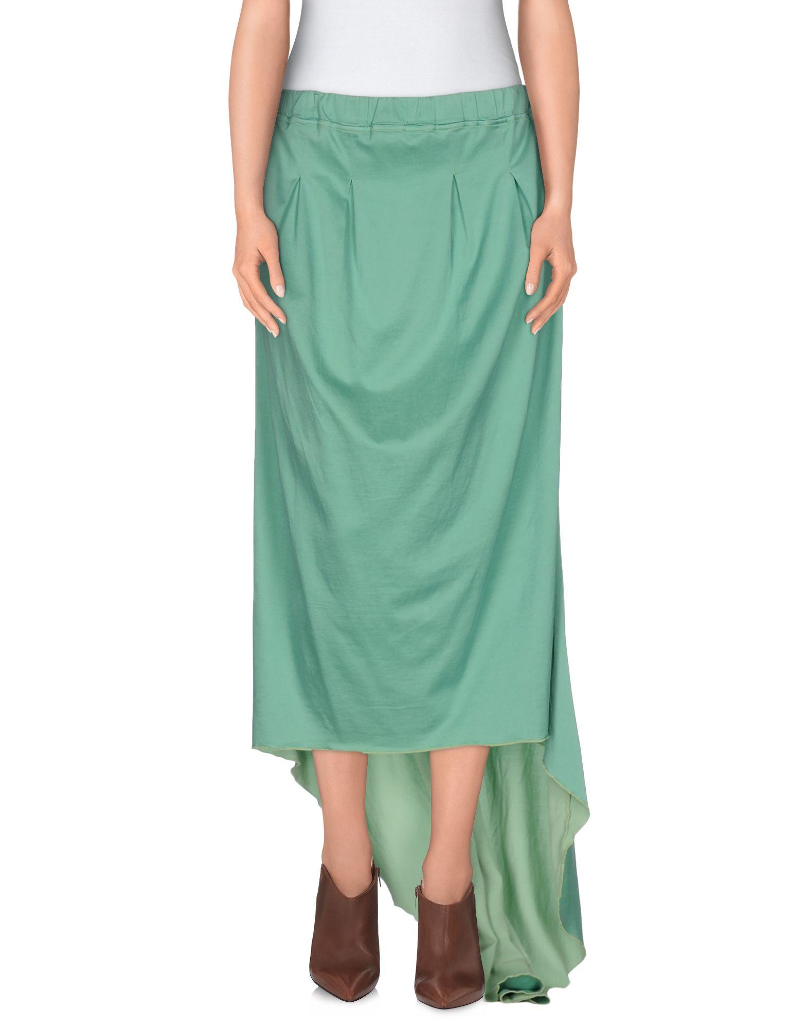 jijil knee length skirt in green lyst
