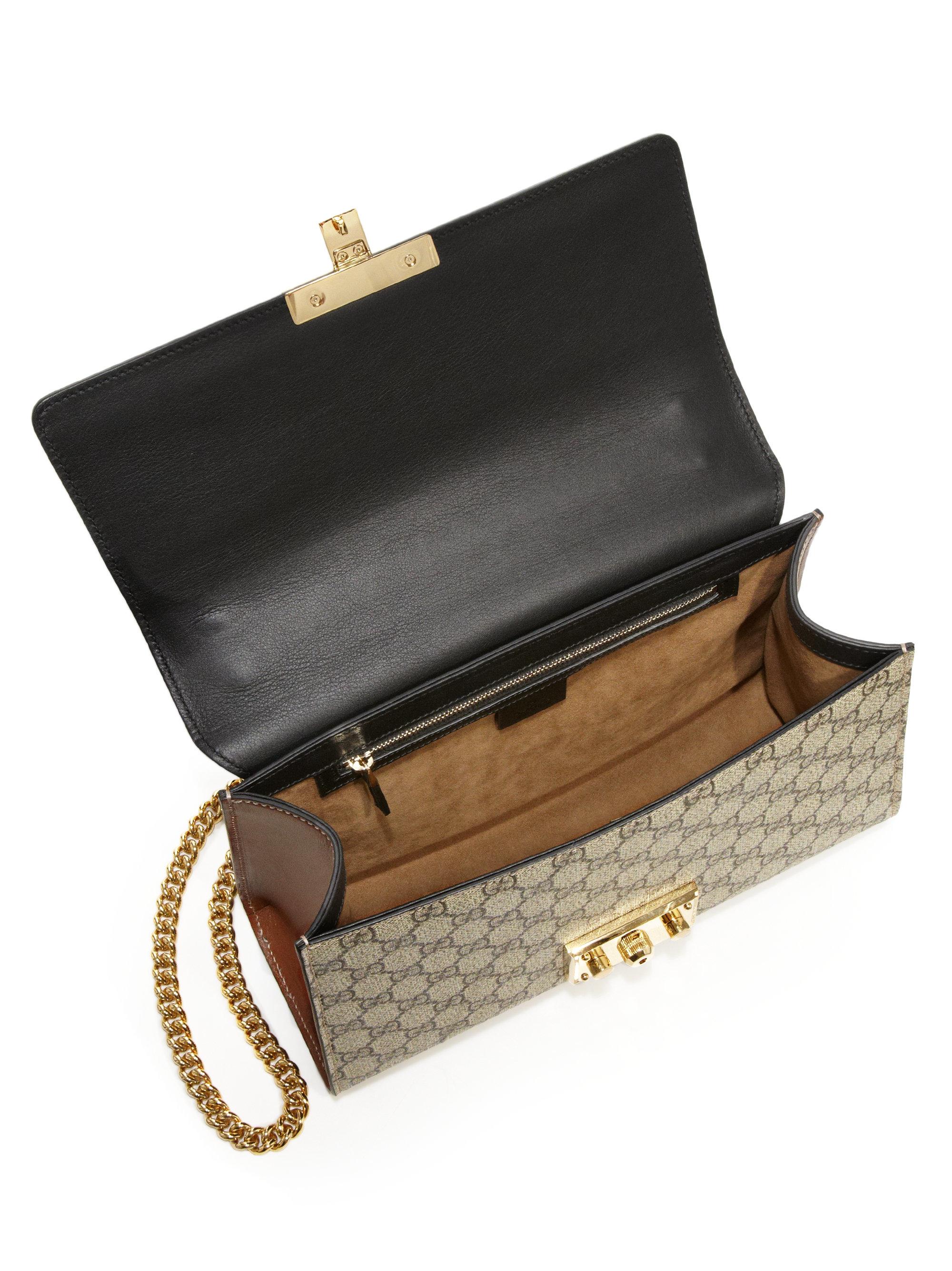 9d6118d07e8 Lyst - Gucci Padlock Gg Supreme Medium Shoulder Bag in Black
