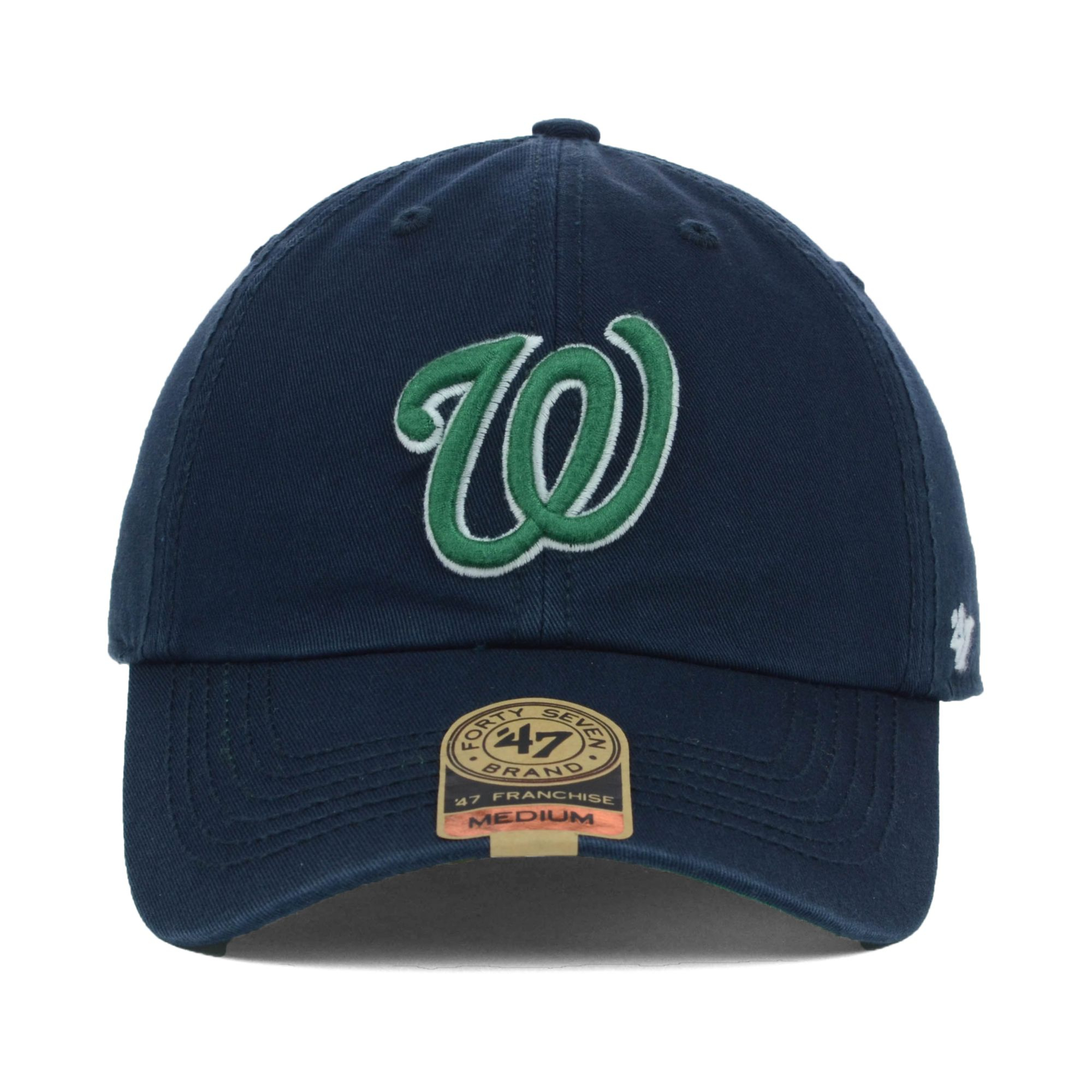 087cce26dcb76 ... authentic lyst 47 brand washington nationals mlb dublin cap in blue for  men 974b1 d1fca