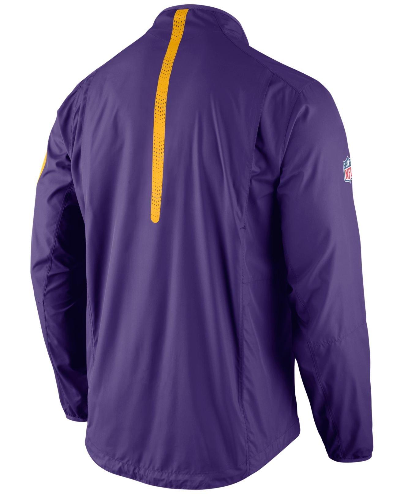 67ee57fac Lyst - Nike Men s Minnesota Vikings Lockdown Half-zip Jacket in ...