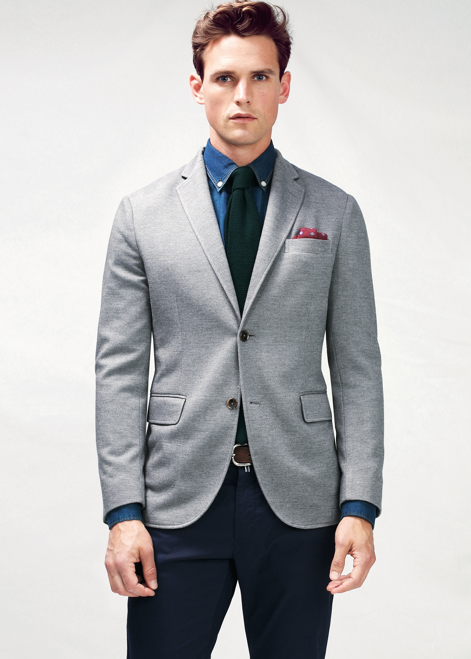 A grey blazer is an essential menswear item that every gent should own. Whether you're dressing for the office, a formal function, cocktail drinks or even a casual dinner, a grey blazer makes an excellent option. Far more versatile than traditional black, a grey blazer can be worn with many looks.