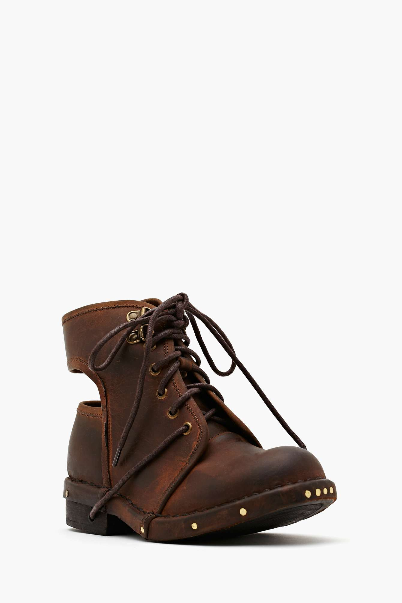 Lyst Nasty Gal Jeffrey Campbell Rosie Cutout Combat Boot