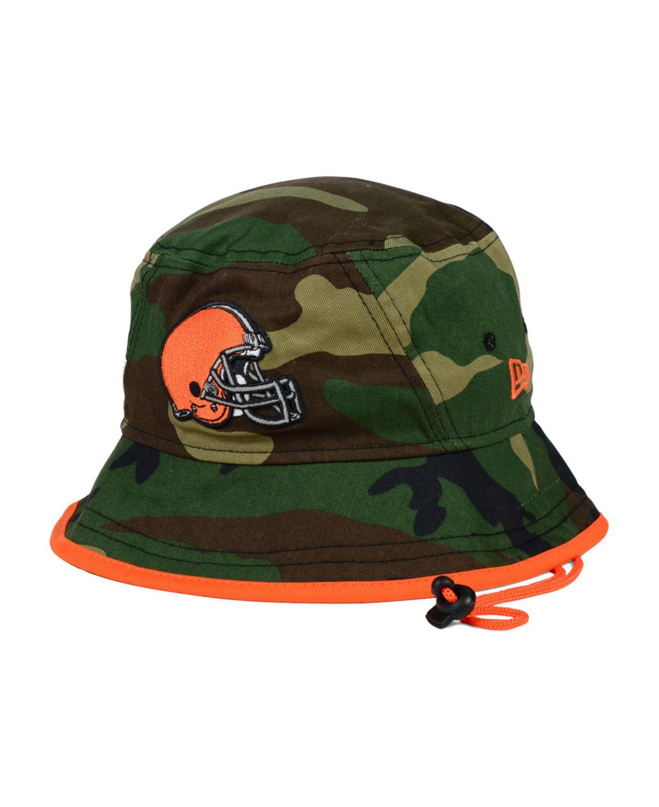 ... denmark lyst ktz cleveland browns camo pop bucket hat in green for men  59432 79053 fb2d4a288