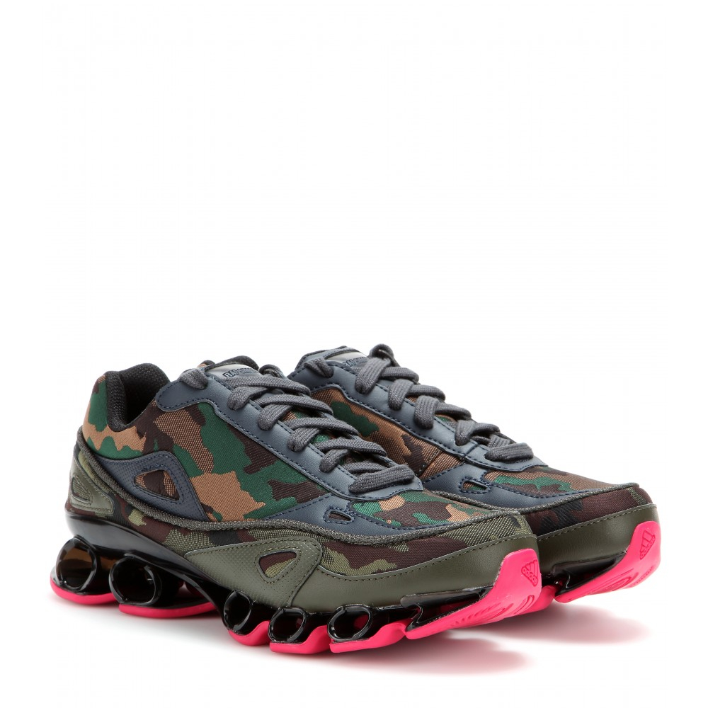 66afcd40b Lyst - adidas By Raf Simons Bounce Camouflage Jacquard Sneakers in Pink